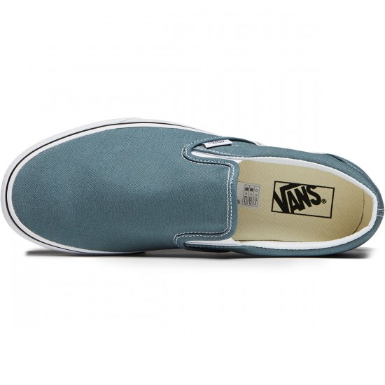 Vans Classic Slip-On Shoes - Goblin Blue/True White - 8.0