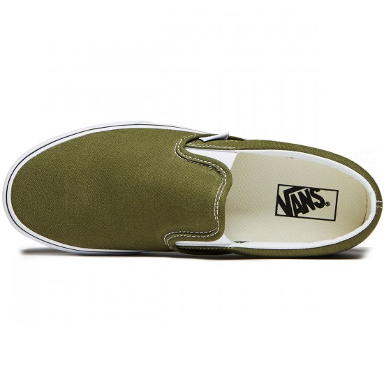 Vans Classic Slip-On Shoes - Winter Moss/True White - 8.0