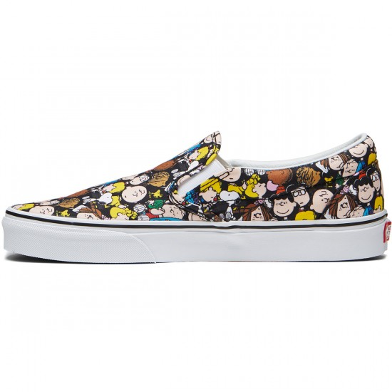 Vans X Peanuts Classic Slip On Shoes - The Gang/Black - 8.0