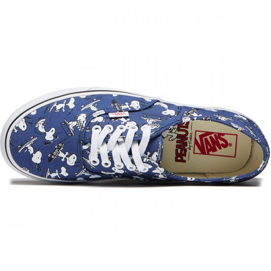 Vans X Peanuts Authentic Shoes - Snoopy/Skateing - 8.0