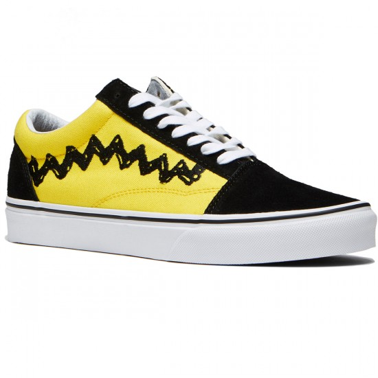 Vans X Peanuts Old Skool Shoes - Charlie Brown/Black - 8.0