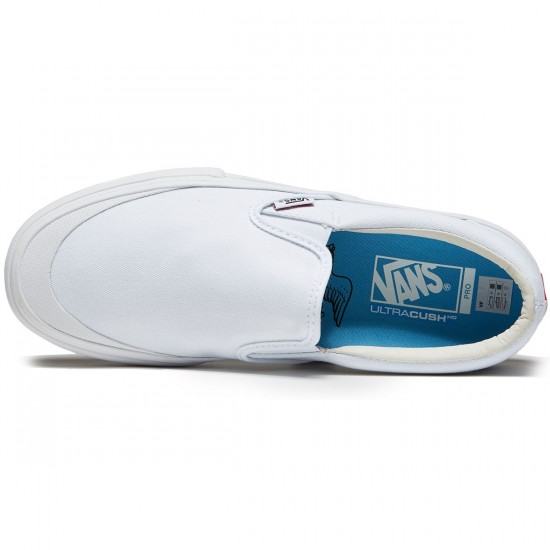 Vans Slip-On Pro Andrew Allen Shoes - White - 10.0