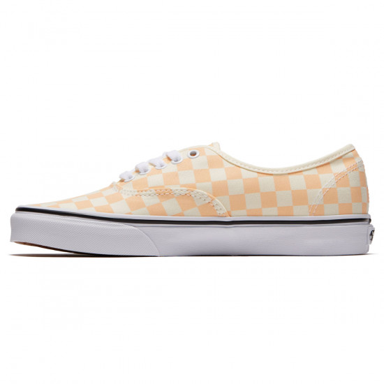 Vans Original Authentic Shoes - Apricot Ice/Classic White Checkerboard