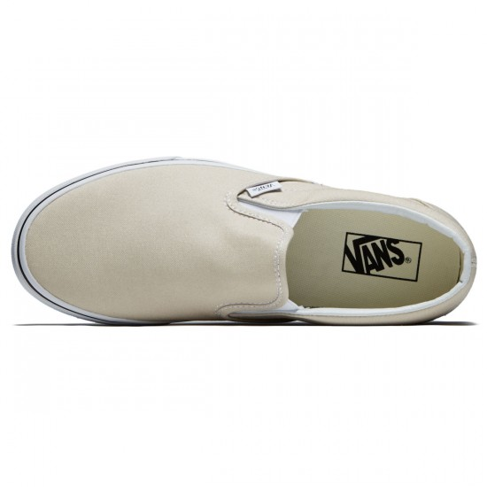Vans Classic Slip-On Shoes - Silver Linning/True White - 8.0