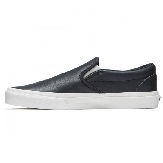 Vans Classic Slip-On Shoes - Asphalt/Blanc de Blanc - 8.0