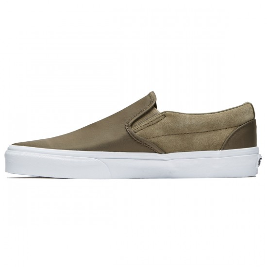 Vans Classic Slip-On Shoes - Dusky Green Nylon - 8.0