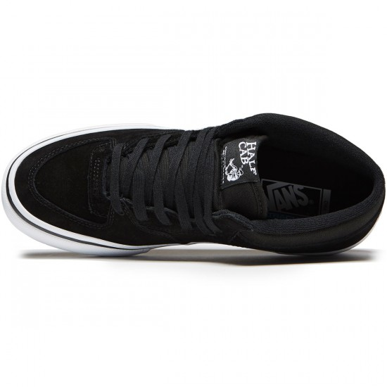 Vans Half Cab Pro Shoes - Black/Black/White - 8.0