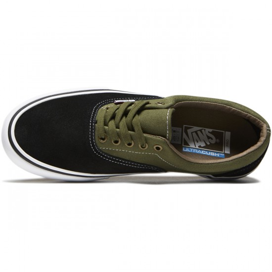 Vans Era Pro Shoes - Black/Moss - 8.0