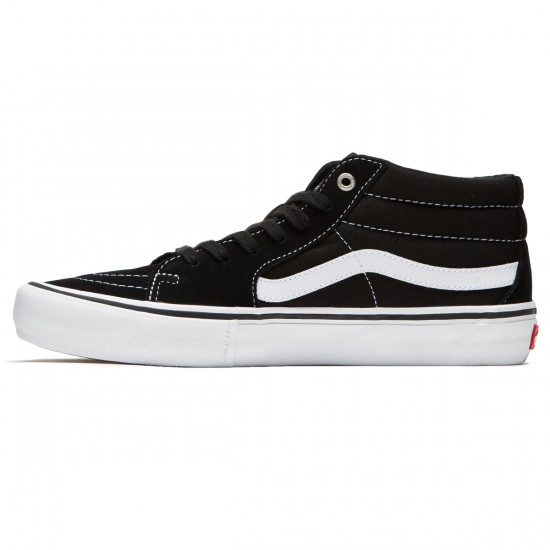 Vans Sk8-Mid Pro Shoes - Black/White