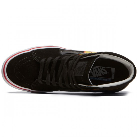 Vans X Thrasher Sk8 Hi Pro Shoes - Thrasher Black - 6.5