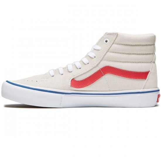 Vans Sk8-Hi Pro Shoes - Birch/Rococco Red - 6.5