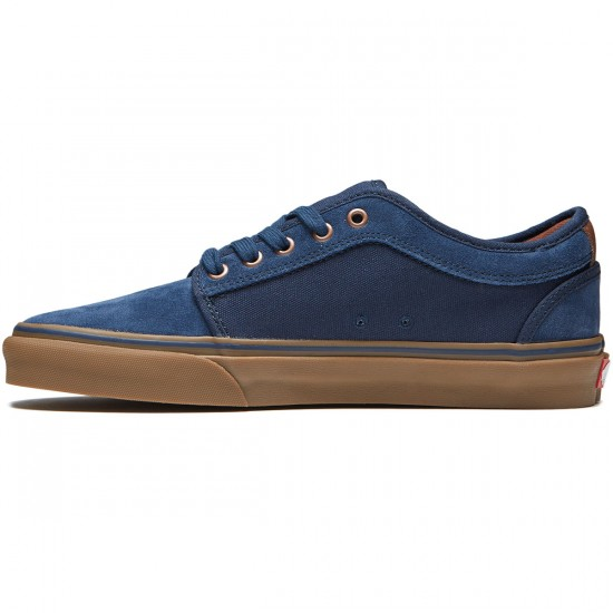 Vans Chukka Low Shoes - Rich Navy/Gum - 8.0