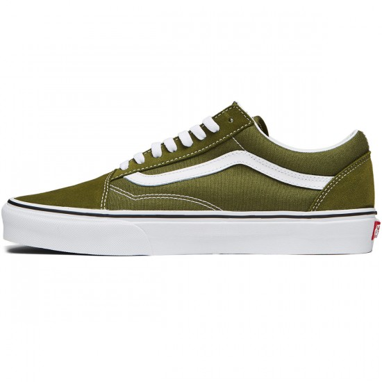 Vans Old Skool Shoes - Winter Moss/True White - 8.0