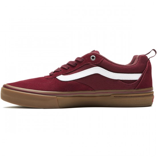 Vans Kyle Walker Pro Shoes - Burgundy/White/Gum - 8.0