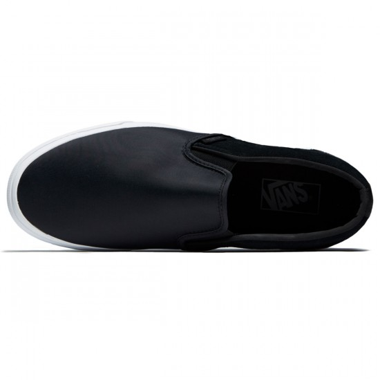 Vans Classic Slip-On Shoes - Black Nylon - 8.0