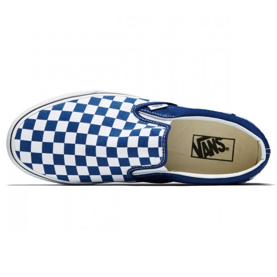 Vans Classic Slip-On Shoes - Estate Blue/True White - 8.0