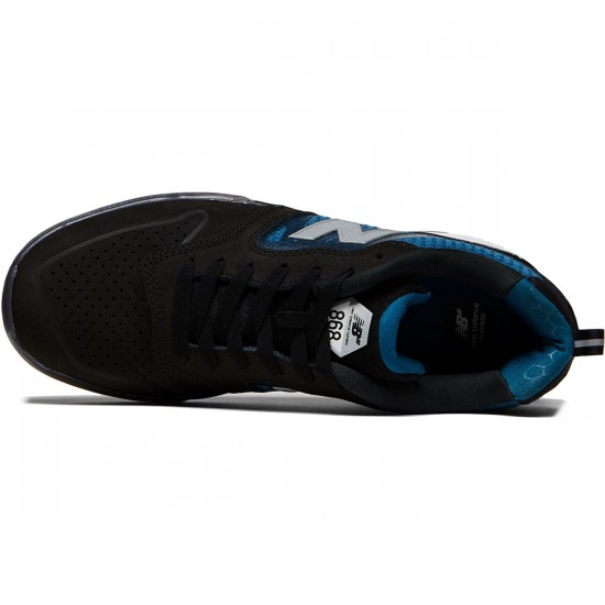 New Balance Numeric 868 Shoes - Black/Moroccan Blue