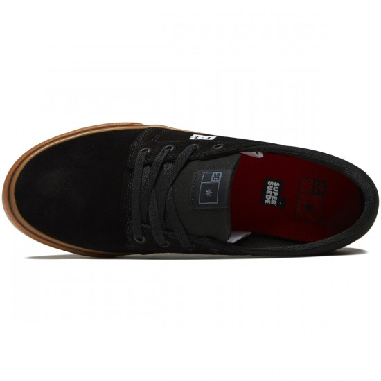 DC Trase S Shoes - Black/White/Red - 8.0