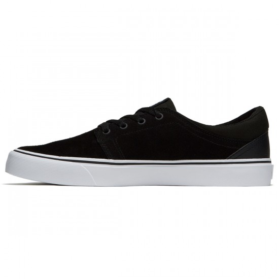 DC Trase S Shoes - Black/Black/White - 8.0