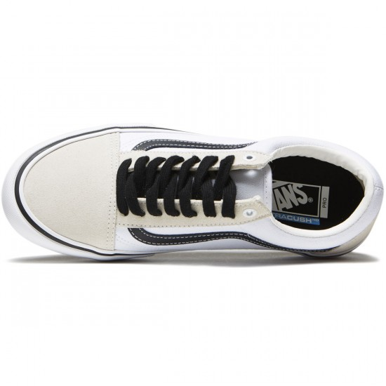 Vans Old Skool Pro Shoes - White/White/Black - 8.0
