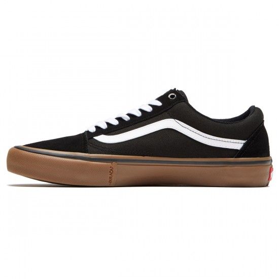 Vans Old Skool Pro Shoes - Black/White/Medium Gum