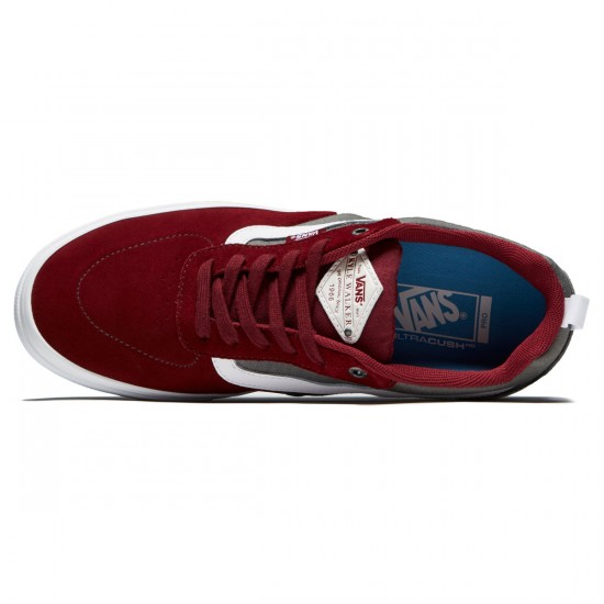 Vans Kyle Walker Pro Shoes - Cabernet/Pewter/White - 8.0