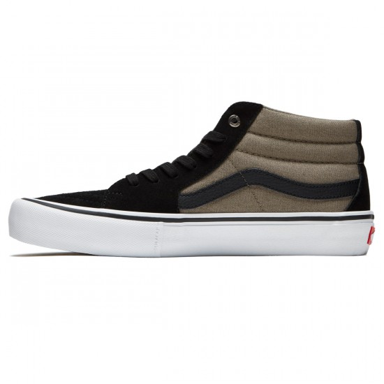 Vans Sk8-Mid Pro Shoes - Black/Fallen Rock - 8.0