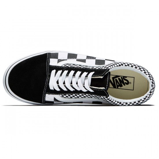 Vans Old Skool Shoes - Black/True White Suede - 8.0