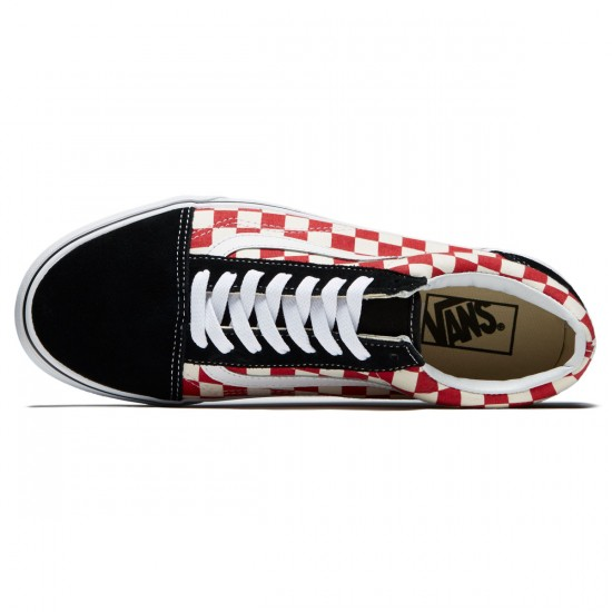 Vans Old Skool Shoes - Black/Red Checkerboard - 8.0