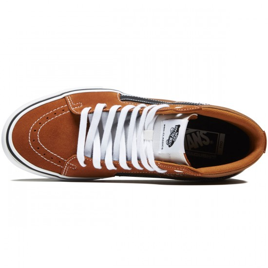Vans Sk8-Hi Pro Shoes - Glazed Ginger/Black/White