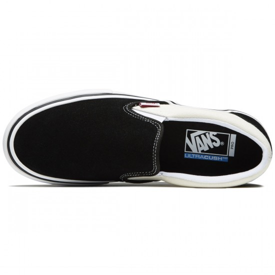 Vans Slip-On Pro Shoes - Black/White/White - 8.0