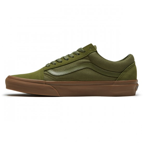 Vans Old Skool Shoes - Winter Moss/Gum - 8.0
