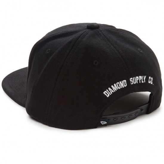 Diamond Supply Co. Un Polo Snapback Hat - Heather Black