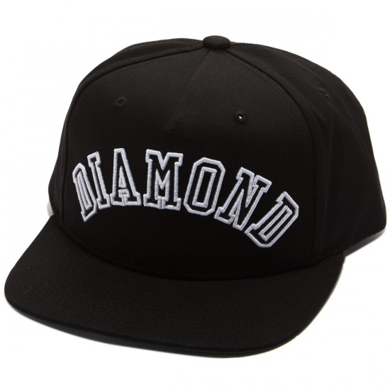 Diamond Supply Co. Diamond Arch Snapback Hat - Black