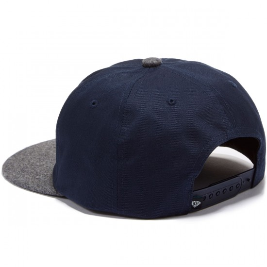 Diamond Supply Co. Leeway Snapback Unstructured Hat - Navy