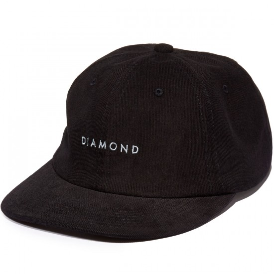 Diamond Supply Co. Leeway 5-Panel Unstructured Hat - Black