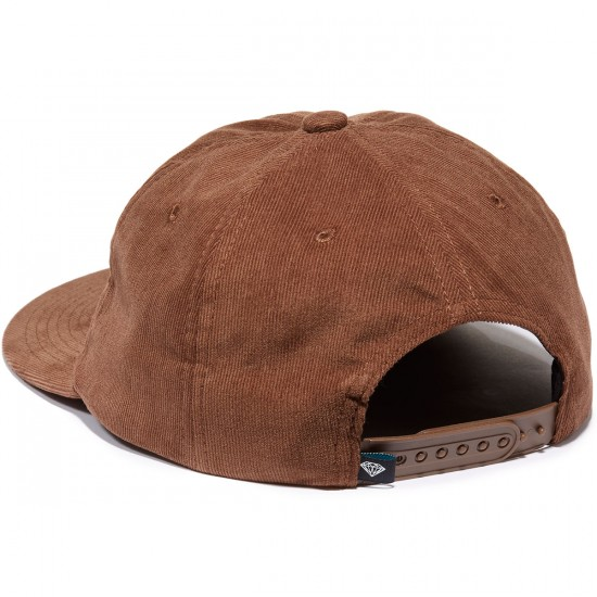 Diamond Supply Co. Leeway 5-Panel Unstructured Hat - Brown