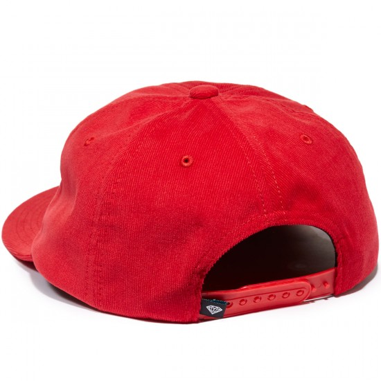 Diamond Supply Co. Leeway 5-Panel Unstructured Hat - Red