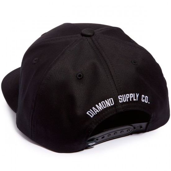 Diamond Supply Co. Block Snapback Hat - Black