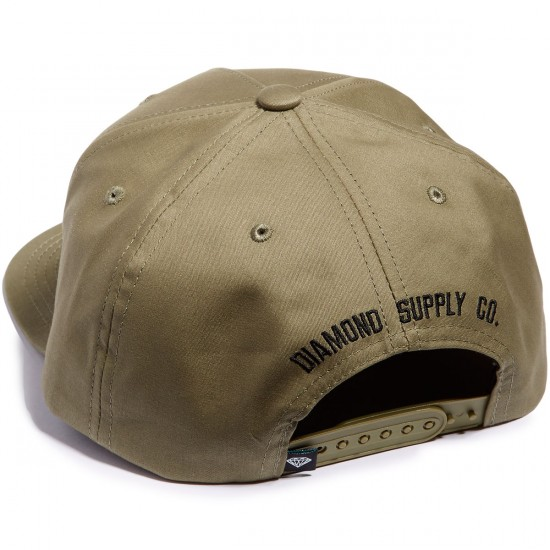 Diamond Supply Co. Back Snapback Hat - Green