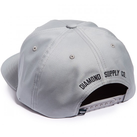 Diamond Supply Co. Block Snapback Hat - Grey