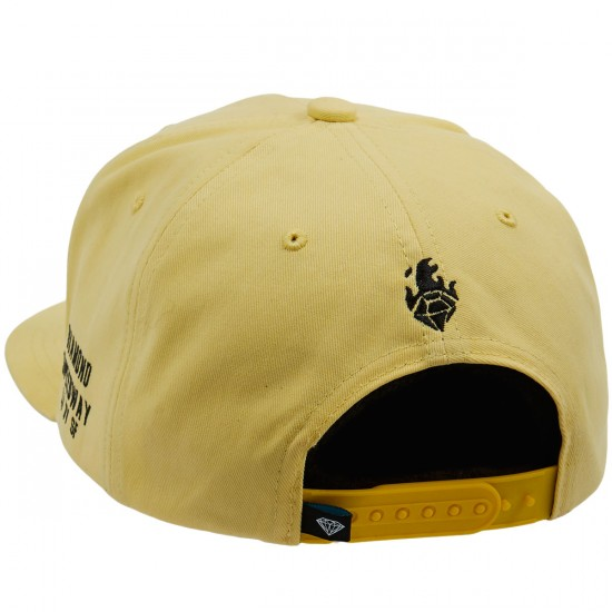 Diamond Supply Co. Burnout Snapback Hat - Yellow