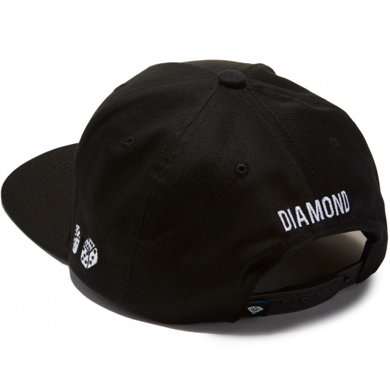 Diamond Supply Co. Brilliant Snapback - Black/White