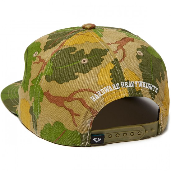Diamond Supply Co. Heavyweight Mascot Unstructured Snapback Hat - Olive Camo
