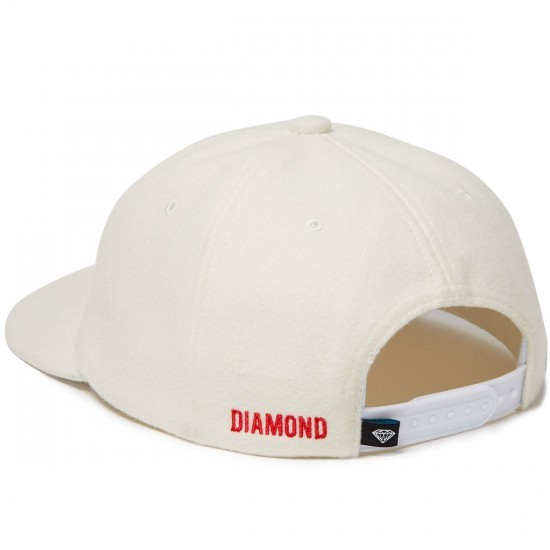 Diamond Supply Co. Home Team Unstructured Snapback Hat - White