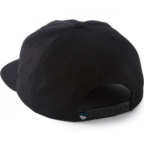 Diamond Supply Co. Essential Unconstructed Snapback Hat - Black