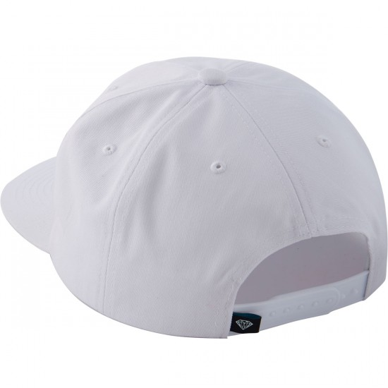 Diamond Supply Co. Essential Unconstructed Snapback Hat - White