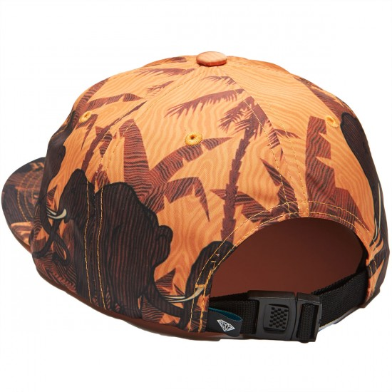 Diamond Supply Co. Safari Unstructured 6 Panel Clipback Hat - Black/White