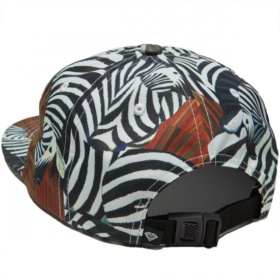 Diamond Supply Co. Safari Unstructured 6 Panel Clipback Hat - Brown
