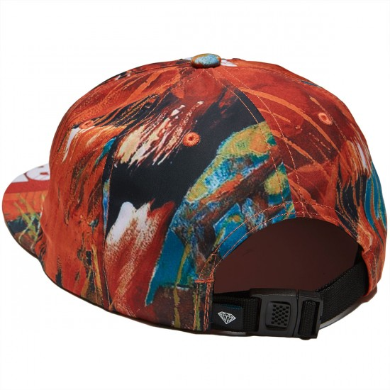 Diamond Supply Co. Safari Unstructured 6 Panel Clipback Hat - Burnt Orange